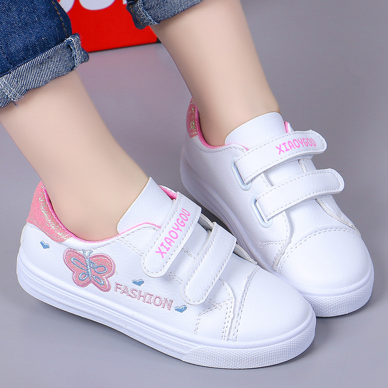 New Kids Shoes For Girls Fashion Children Casual Shoes Butterfly Cute Toddler Kids Sneakers Breathable Baby Girls Shoes