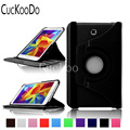 CucKooDo 360 Rotating Degrees Luxury Rotating Stand PU Leather Smart Case Cover for Samsung Galaxy Tab 4 7 inch (2014) SM-T230NU