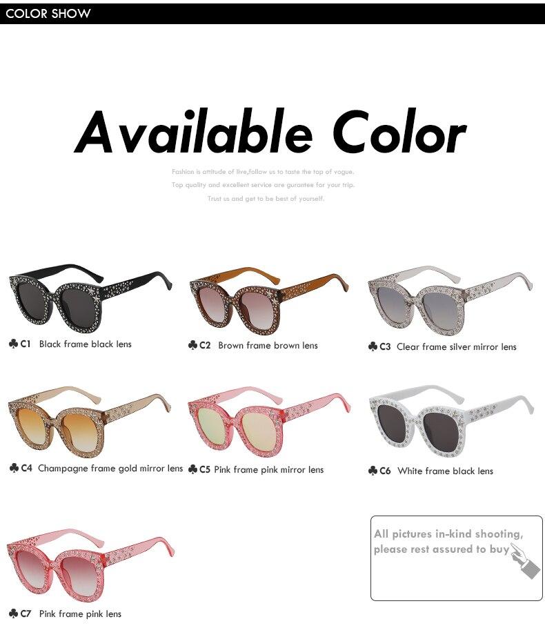 Rivet Star Decoration Sunglasses