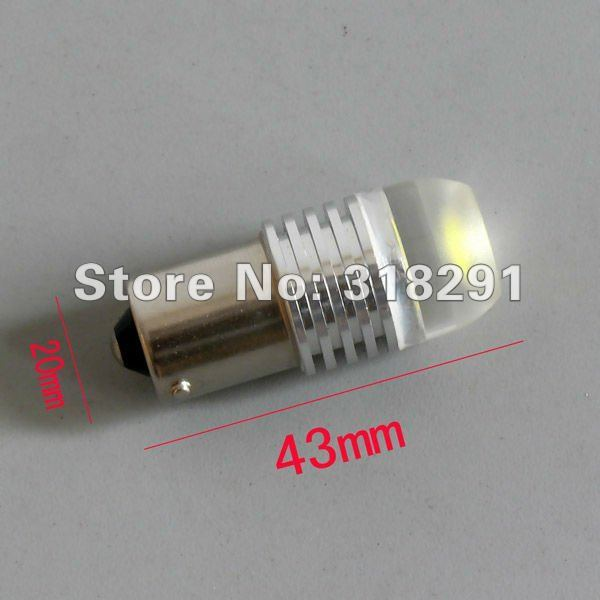 10pcs/lot 1156 t20 11571157/3156/3157/7440 ba15s 3W 3 core High power Led Car Reverse Light High quality low price
