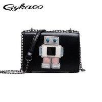 Новый милый робот Для женщин цепь клатч веселую вечеринку вечерняя сумочка; BS010 Мини сотовый Телефонные чехлы сумка аниме мультфильм девочк...