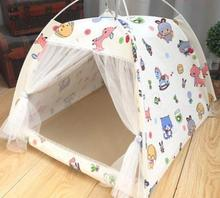 Portable foldable pet tent playpen outdoor Indoor for cat small dog puppy tents cats toy house teepee