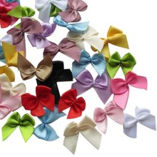 Suoja 50pcs/lot  Mini Satin Ribbon Flowers Bows Gift Craft Wedding Decoration suoja