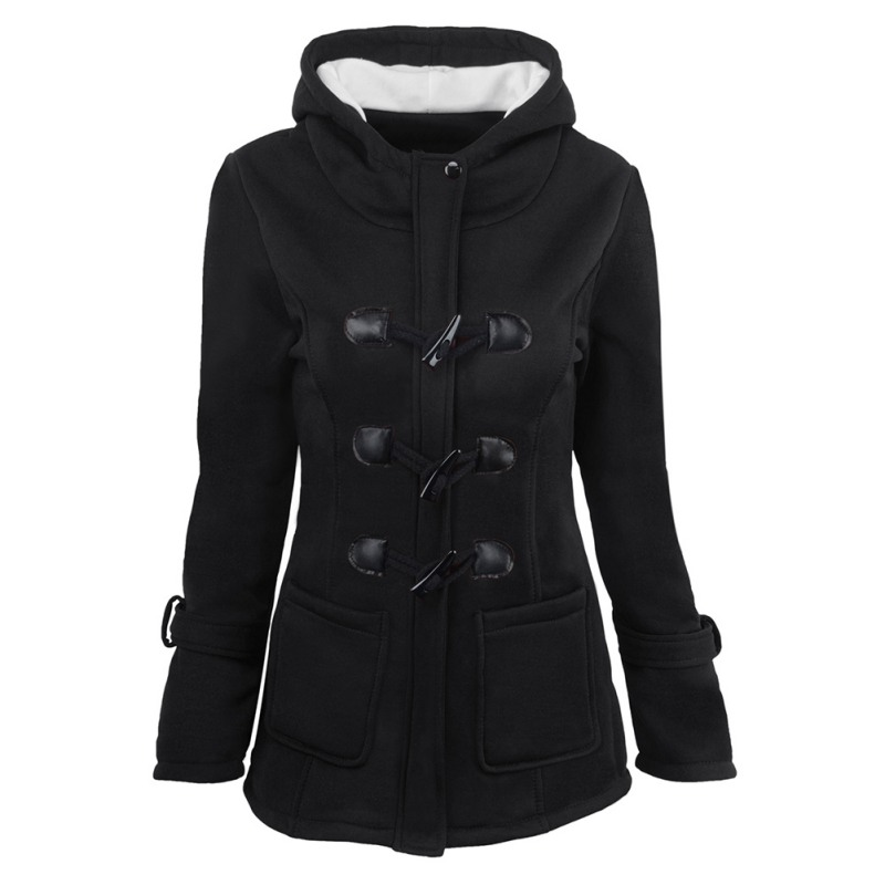 2018 Autumn Winter Hooded   Parkas   Women Coat Thicken Cotton Blending Jacket Womens Outwear   Parkas   for Women