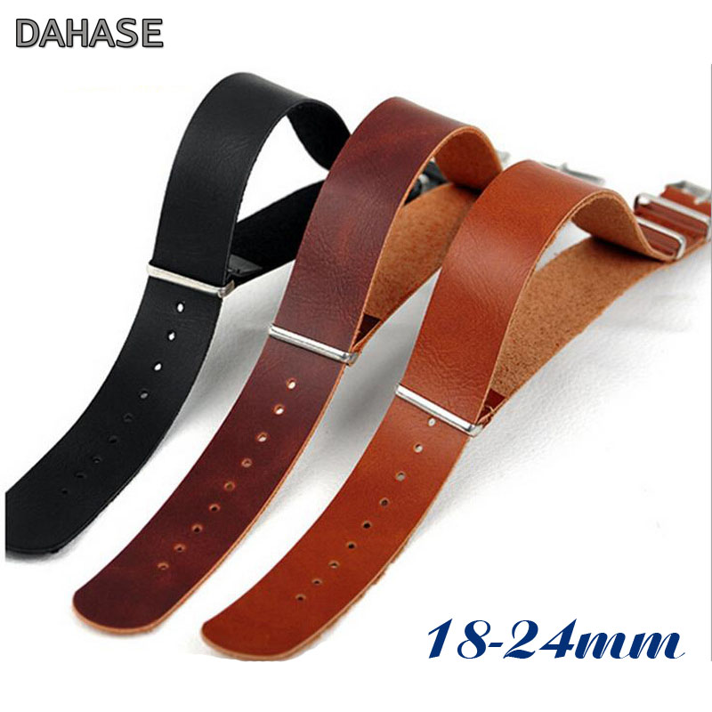 18mm 20mm 22mm 24mm NT ZL Leather Watch Band Retro Bracelet Watchband Replacement Watch Strap Belt Brown Black