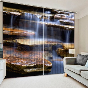Curtains Waterfall stone curtains for living room kitchen Window 3D Curtains