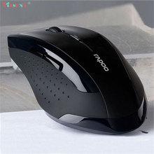 Botón profesional 2.4 GHz USB Ratón Óptico Inalámbrico Ratones Gaming Mouse Computer Mouse Para PC Portátil