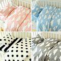 3 unids/setsnordic estilo bedding sets 100% tela de sarga de algodón hoja de cubierta del edredón funda de almohada naturales cuna bebé decoraciones de cama