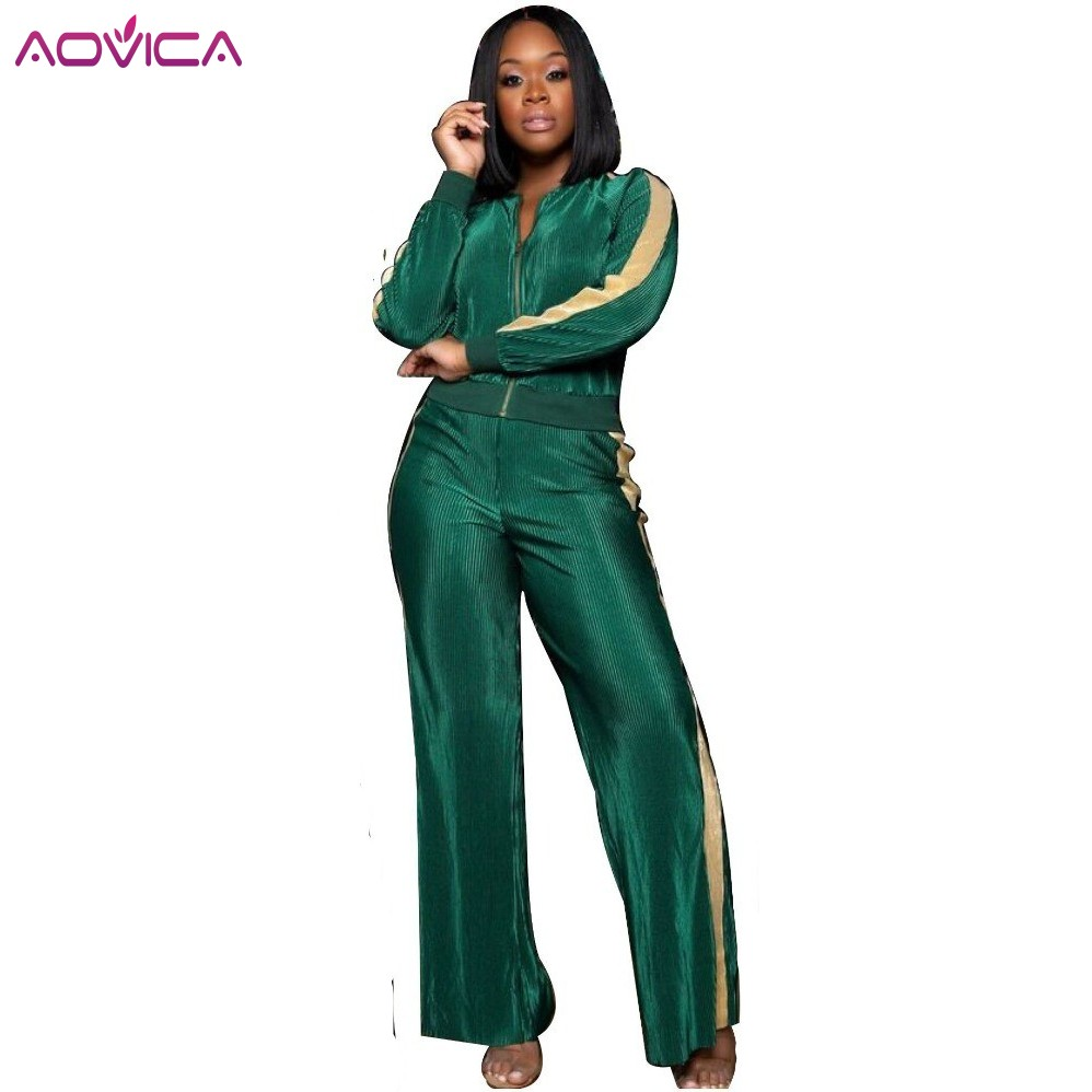 Autumn Women Sets Tracksuit Long Sleeve Stitching Sweatshirts Casual Suit Winte Clothes Two Piece Set Tops Pants Sporting Female