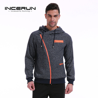 INCERUN 2018 Hoodies Men Casual Sweatshirt Tracksuit Male Zipper Hooded Jacket Fashion Sportswear Hoodies Pullover Autumn Winter