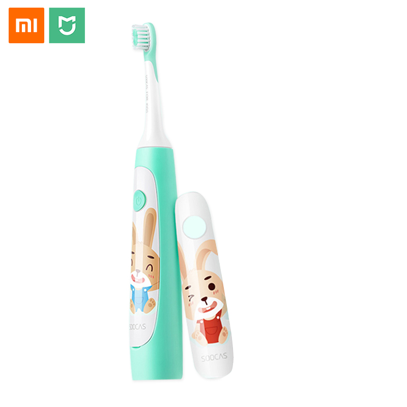 Xiaomi Soocare Soocas Children Eletric Toothbrush Bluetooth App Control Waterproof Youpin Acoustic Wave Toothbrush Rechargeable