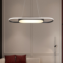 長さ 90 センチメートルライト白/黒現代の led ペンダントライトダイニングルーム Kitchent ルームバーペンダントランプ照明器具