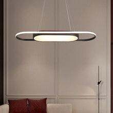 طول 90 سنتيمتر مصابيح تعليق للزينة الأبيض/الأسود الحديثة قلادة led أضواء لغرفة الطعام Kitchent غرفة بار مصباح معلق تركيبات