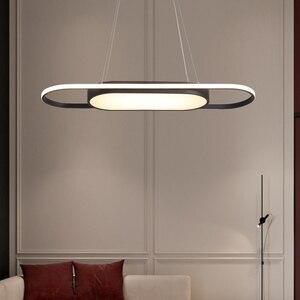 Image 1 - אורך 90cm תליית אורות לבן/שחור מודרני led אורות תליון עבור אוכל חדר Kitchent חדר בר תליון מנורה אור גופי