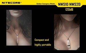 Image 5 - Nitecore NWS10ไทเทเนียมฉุกเฉินนกหวีดสร้อยคอจี้กลางแจ้ง120dBพร้อมพวงกุญแจ + จัดส่งฟรี