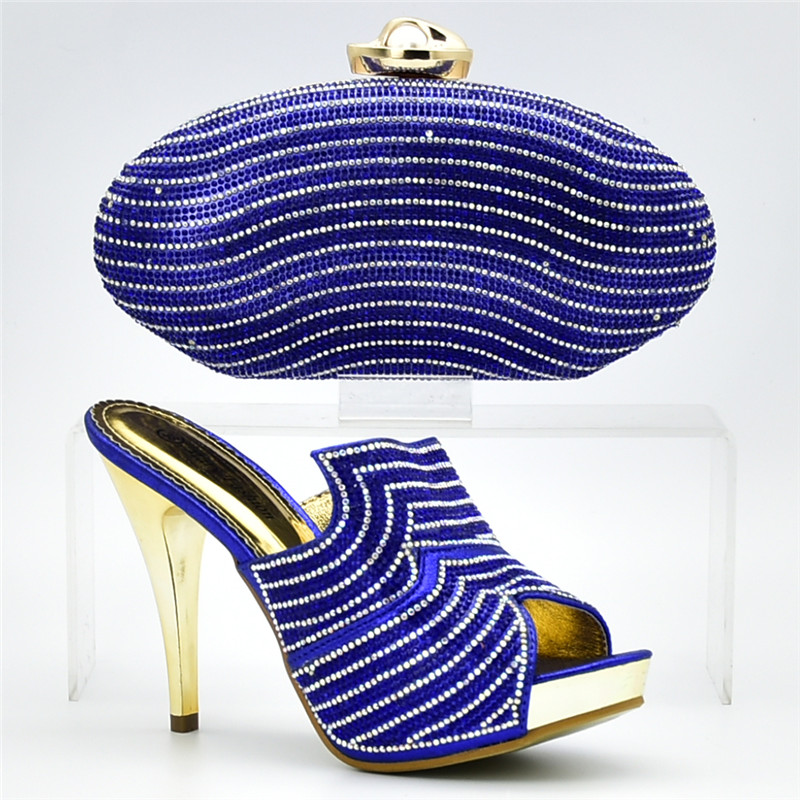 Diamantes Zapatos Imitación Boda Juego sliver La Moda Y Bolsa Zapato fuchsia De Con Conjuntos Nueva purple Italiano gold black A Blue Conjunto Africana Adornado Bolso Ozpwq5x5CP