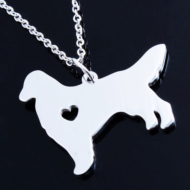 Women Girls Christmas Gift Golden Retriever Necklaces Personalized