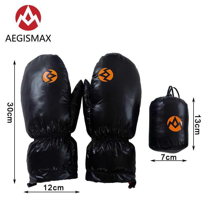 AEGISMAX White Goose Down Gloves Warm Portable Winter Sport Waterproof Camping Hiking Cycling Motorcycle Bicycle Ski Gloves