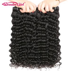 Image 2 - Human Hair Bundles Deep Wave Bundles Deal 28 30 Inch Bundles Peruvian Hair Bundles Wonder girl Remy Hair Extensions Human Hair
