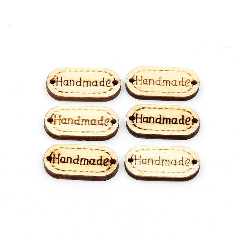 Hand made 100Pcs Wooden Spacer Beading Beads 2 Holes for DIY Crafts Connectors Sewing Decoration Beaded ouneed happy home 2 holes mixed owl wooden buttons sewing scrapbooking diy 1 piece