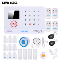 OWSOO 433MHz Wireless 3G SMS Alarm Security System LCD Display Water Sensor App Remote Control For