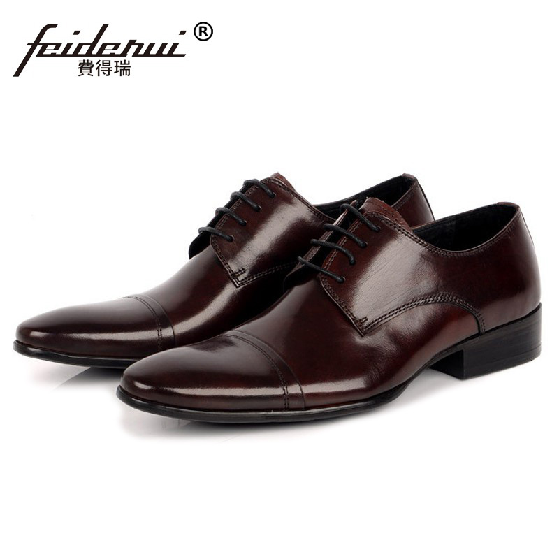 Formal Brand Man Derby Dress Wedding Shoes Genuine Leather Italian Designer Oxfords Round Toe Men's Bridal Flat footwear BD37 2016 new arrival fashion real genuine leather formal designer brand man flat heels round toe men s elastic casual shoes glm1240 page 6