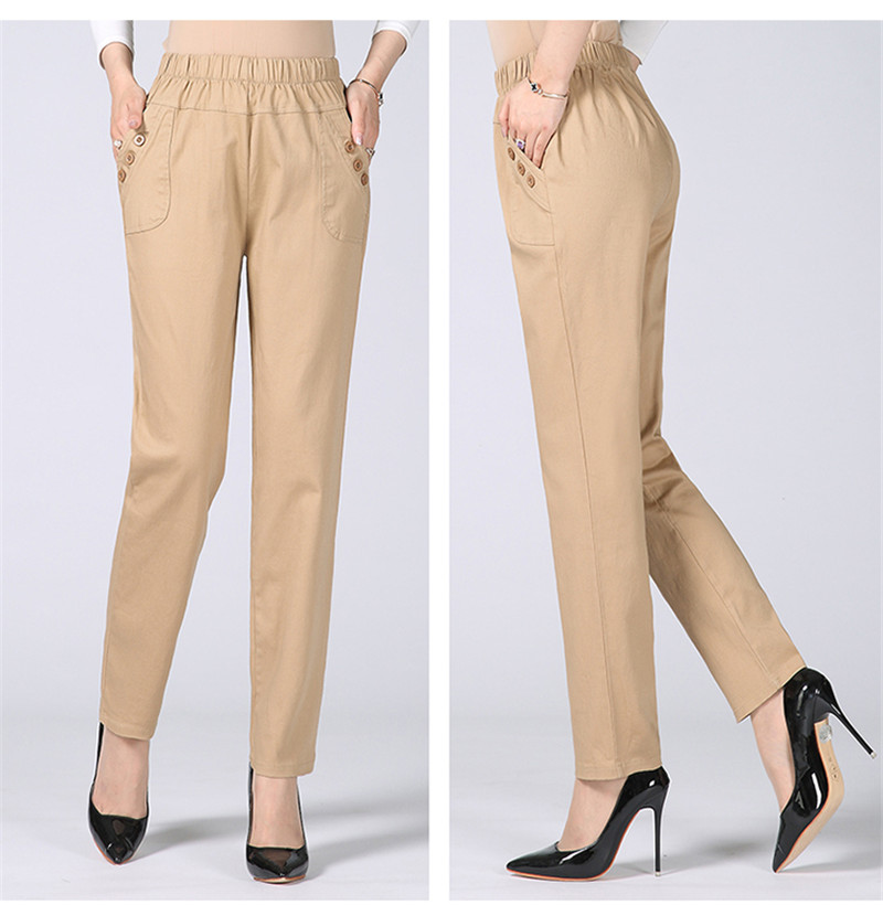 HTB198RKkCBYBeNjy0Feq6znmFXal - Plus Size 5XL High Waist Stretch Long Pants Women Cotton Straight Trousers Women Pantalon Femme Work Office Ladies Pants C4315