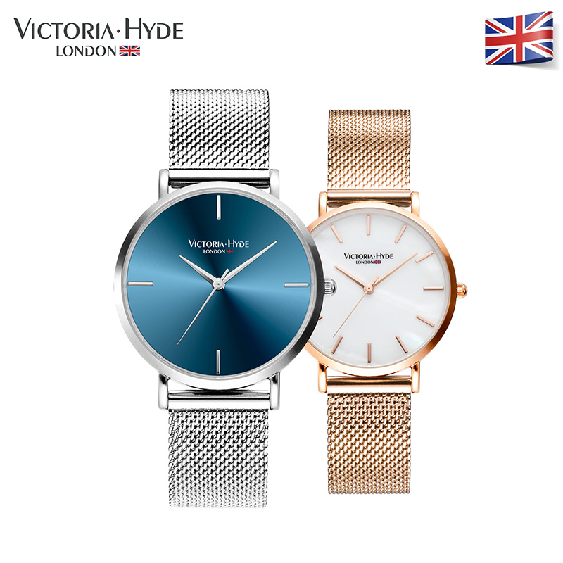 Victoria Hyde Men Women Watches Luxury Brand Stainless Steel Band Lovers  Quartz Wristwatches 30ATM Waterproof new brand women s genuine watches high grade swiss lady s watch waterproof fashionable steel band quartz wristwatches