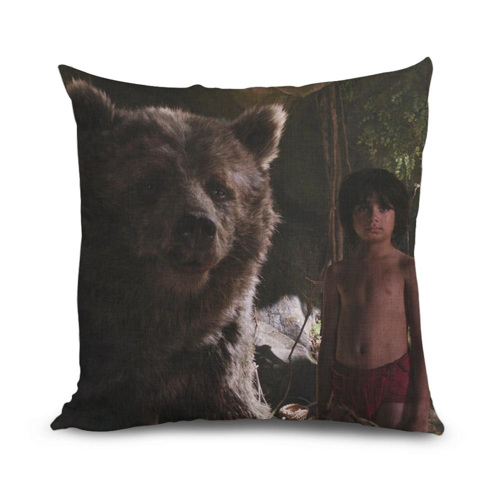 45cmx45cm Decorative Cushion Cover The Jungle Book Movie Mowgli&Baru Shape Pillow Case Fashion Art Printing Cushion Case Soft