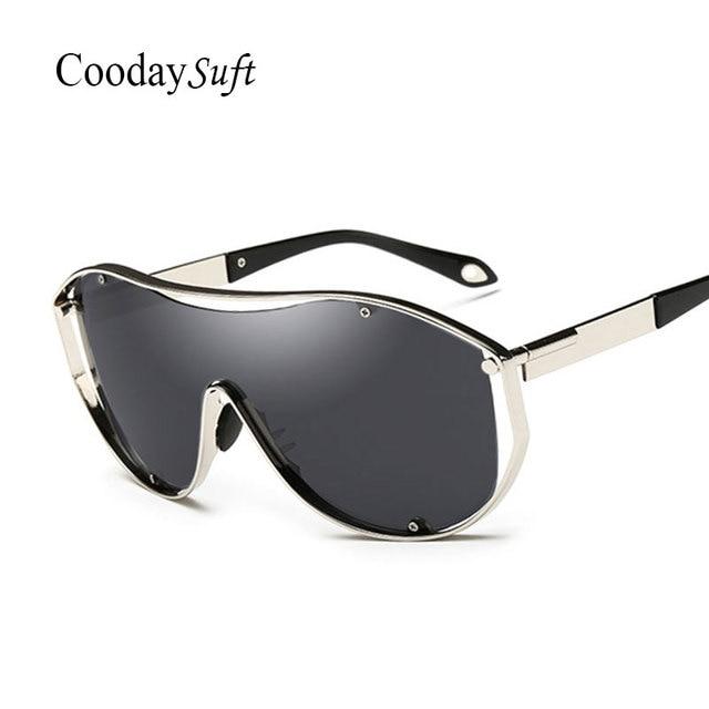 CVOO Trendy Sunglasses Men Women Steam Punk Mirror Sun Glasses for Hip Hop Male Female Black iBb9227g3