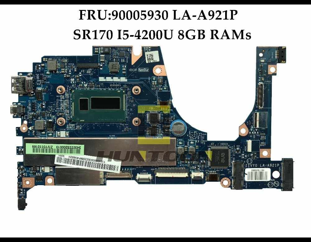 Wholesale FRU:90005930 FOR Lenovo Yoga 2 13 Laptop Motherboard ZIVY0 LA-A921P SR170 I5-4200U 8GB RAMs 100% Fully Tested