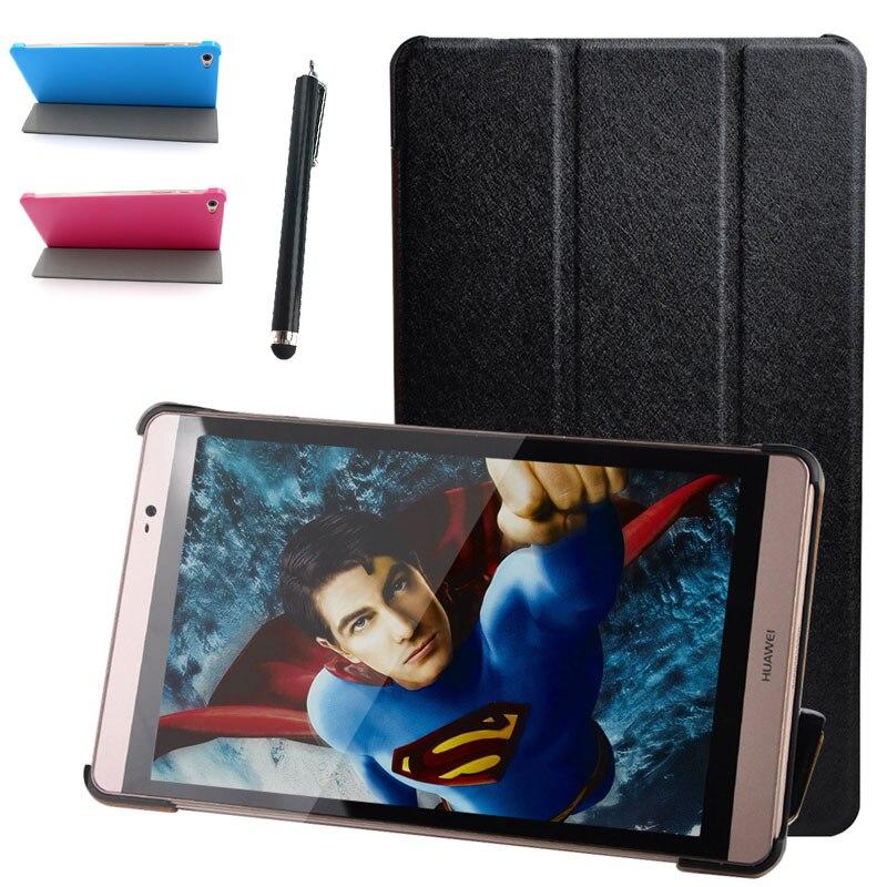 Ультра тонкие модные Искусственная кожа чехол для Huawei MediaPad m2 m2-801w m2-803l capafunda для Huawei m2 8.0 Tablet Case + стилусы