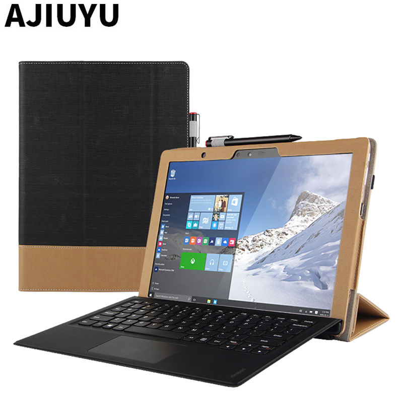 Case For Lenovo Miix 720 Cover Ideapad MIIX720 Protective Smart Leather Tablet Miix 5 Pro 720 Case PU Protector Sleeve 12 inch wireless removable bluetooth keyboard case cover touchpad for lenovo miix 2 3 300 10 1 thinkpad tablet 1 2 10 ideapad miix