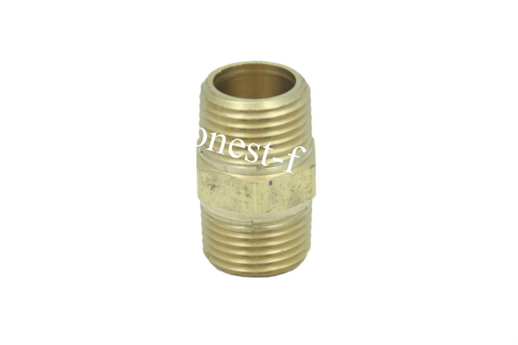Brass Pipe Hex Nipple Fitting 3/4 Male BSPT Air Fuel brass pneumatic pipe 1 4 bspt to 1 4 bspt male thread m m equal union hex nipple