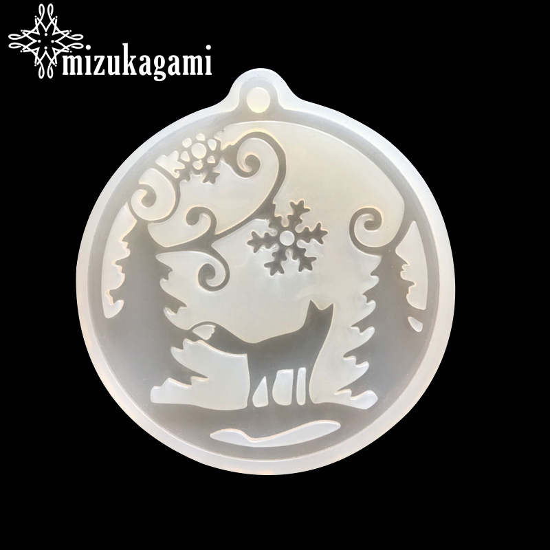 UV Resin Jewelry Liquid Silicone Mold Christmas Tree Snow Resin Charms Pendant Mold For DIY Intersperse Decorate Making Jewelry