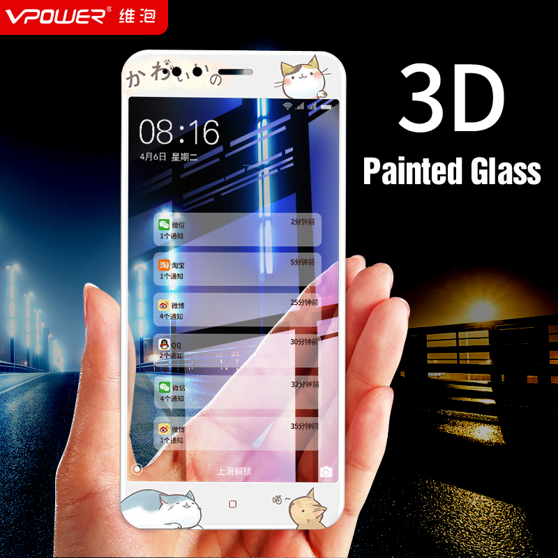 Vpower for Xiaomi mi a1 mi5x mi 5x tempered glass screen protector 3D Relief Anti-blue 9H Protective Film for xiaomi mi a1