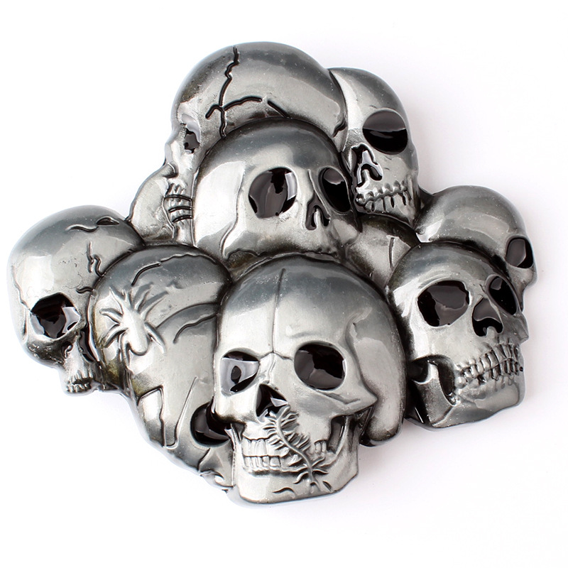 The Skull Zinc Alloy Belt Buckle
