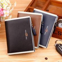 Heißer verkauf herren-ledergeldbeutel mit reißverschluss haspe brieftasche geldbörse multifunktionale männlichen kartenhalter 3 farben