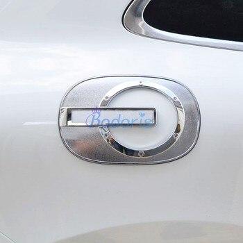 Para Porsche Macan 2014 2015 2016 2017 Tampa Do Tanque de Gás Combustível Tampa Da Caixa Moldura Do Painel de Sobreposição Chrome Styling Acessórios Do Carro