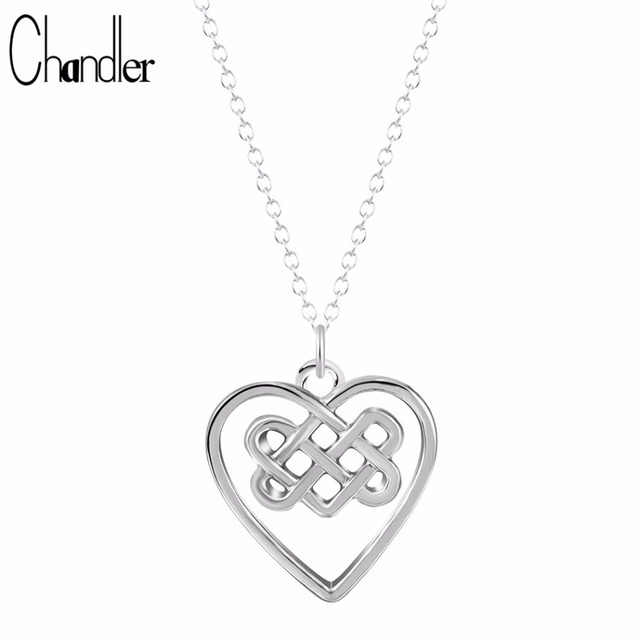 Chandler wholesale chinese celtic knot necklace love irish pendant chandler wholesale chinese celtic knot necklace love irish pendant long link chain collar invisible slim summer aloadofball Image collections