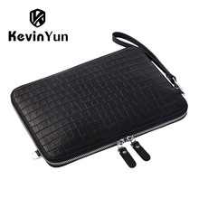 купить KEVIN YUN Designer Brand Men Bag Genuine Leather Handbag Men Clutch Bags Business Casual Male Shoulder Bags по цене 2303.26 рублей