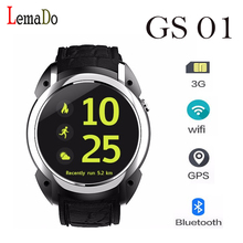 Gs-01 android 5.1 mtk6580 smart watchโทรศัพท์wifi gps 3กรัมh eart rate Monitor Smartwatchสำหรับandroid IOSโทรศัพท์pk lem5 lf16