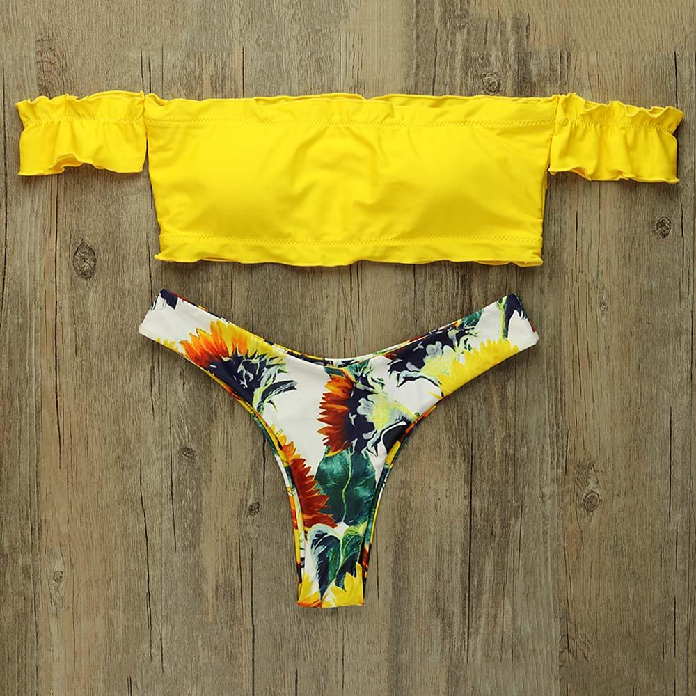Sexy Bikini Set 2019 Women Yellow Thong Swimsuit Brazilian -8526