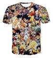 Классический Аниме Dragon Ball Z Символов футболки Мода Мультфильм Вегета гоку 3d майка Улица тис Женщины Мужчины рубашки Повседневные топы