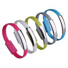 22CM Wristband Cable V8 Micro USB Cable Silicone Wrist Bracelet Data Sync Charge Cables For Samsung Xiaomi HTC Android Phone