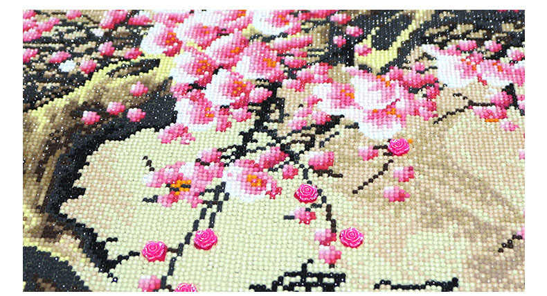 QIANZEHUI, Especial Em Forma de DIY Diamante Bordado, flor de ameixa strass Cheio de Diamantes pintura ponto cruz, bordados decoração