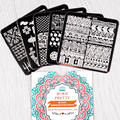 5Pcs/set BORN PRETTY 6*6cm Square Nail Art Stamp Template Pretty Image Plate BP-X01~X05