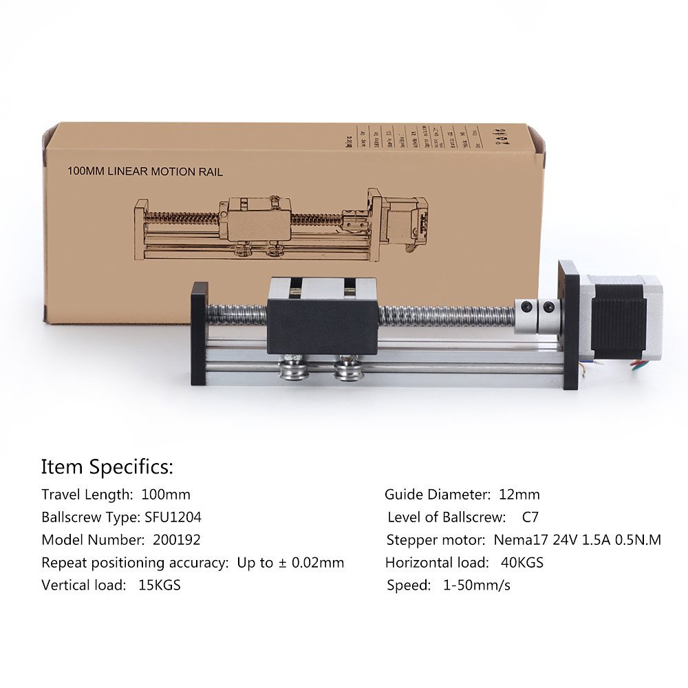 CNC Sfu1605 Nema23 100mm Travel Length Linear Stage Actuator DIY CNC Router Part