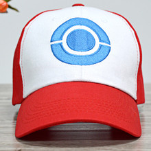 65a1041003bc2 Hot Sale Anime Pocket Monster Cosplay Costume Ash Ketchum Cosplay Hat  Summer Style Red Peaked Cap