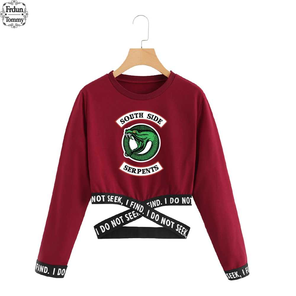 Frdun Tommy Riverdale Small Sexy Waist Sweatshirt Women 2019 Exclusive Fashion Sweatshirt Long Sleeve Casual Hoodie Sweatshirt